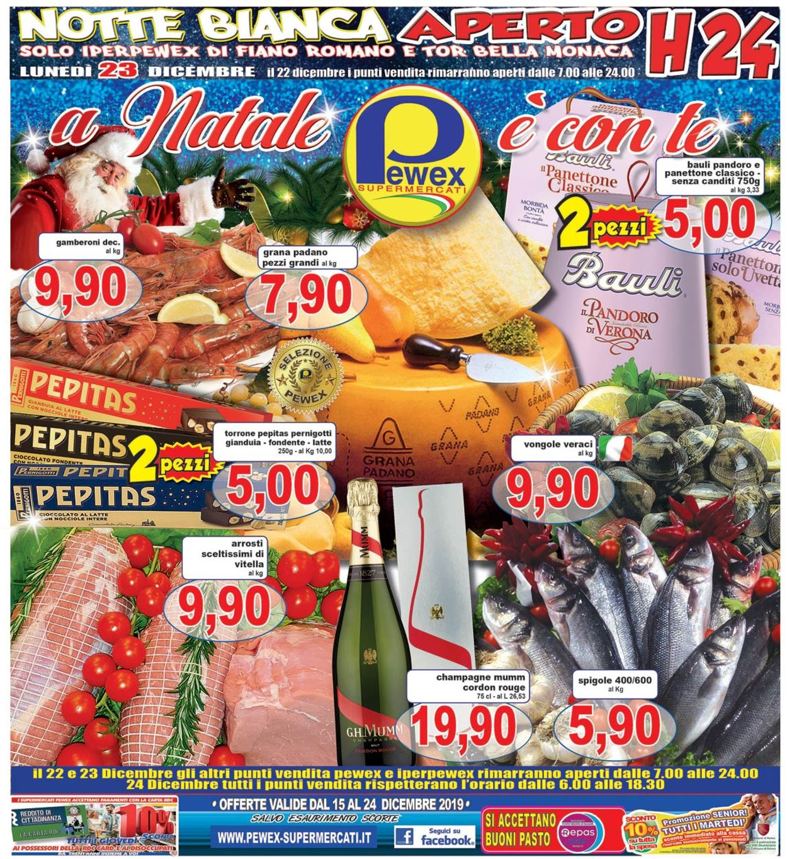 Volantino Il volantino natalizio di Pewex - Offerte 15/12-24/12/2019