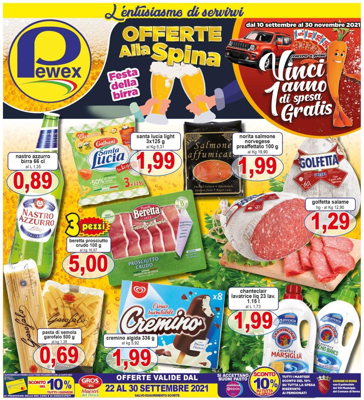 Volantino Pewex - Offerte 22/09-30/09/2021
