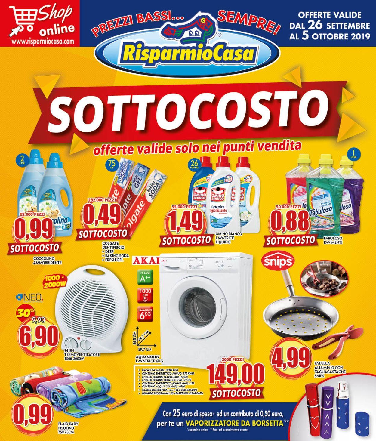 Volantino Risparmio Casa - Offerte 26/09-05/10/2019