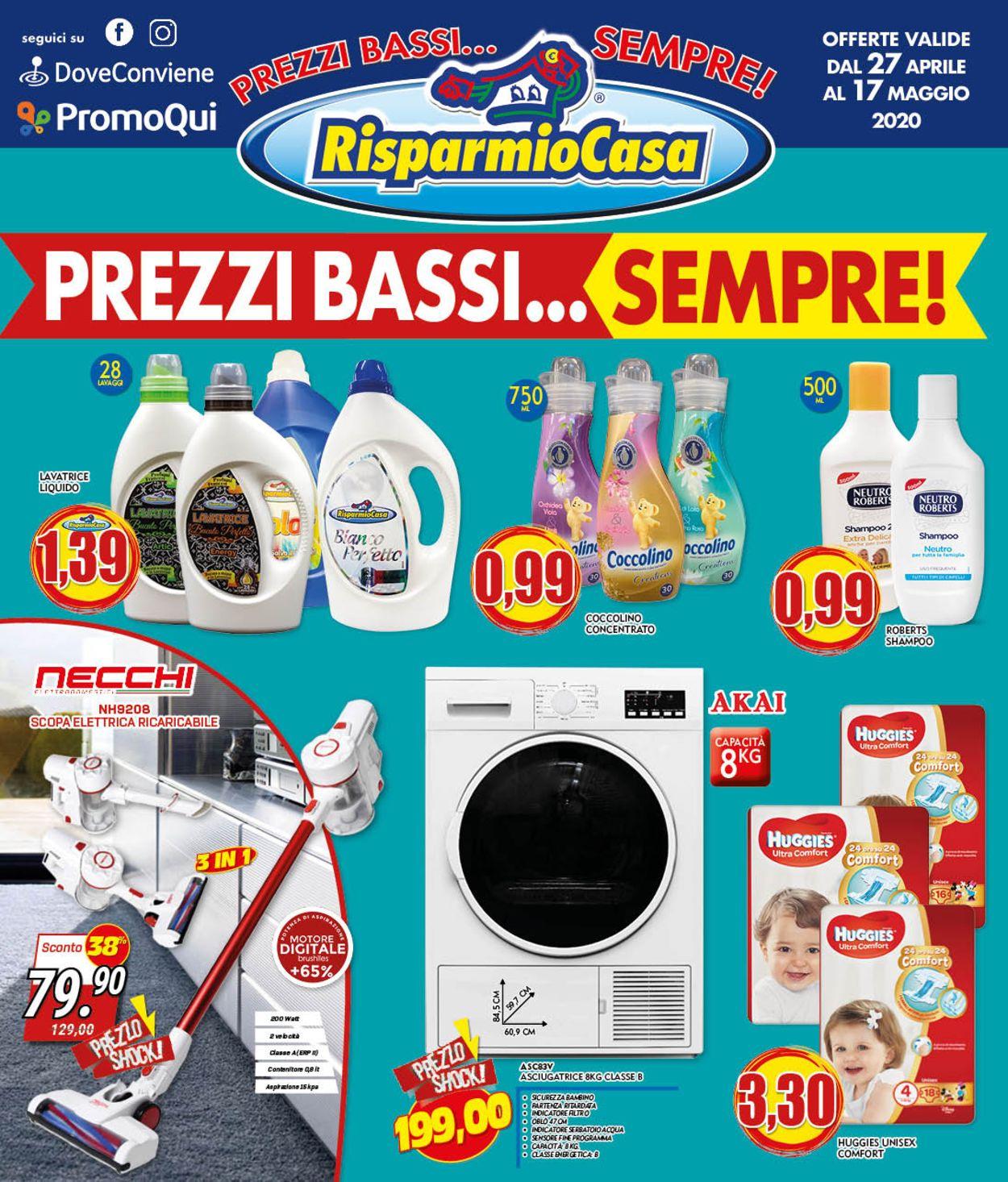 Volantino Risparmio Casa - Offerte 27/04-17/05/2020