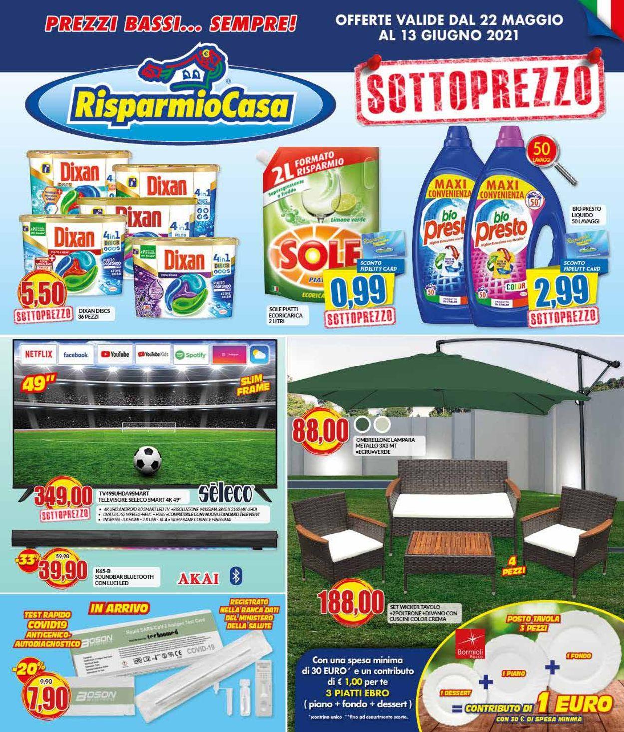 Volantino Risparmio Casa - Offerte 22/05-13/06/2021