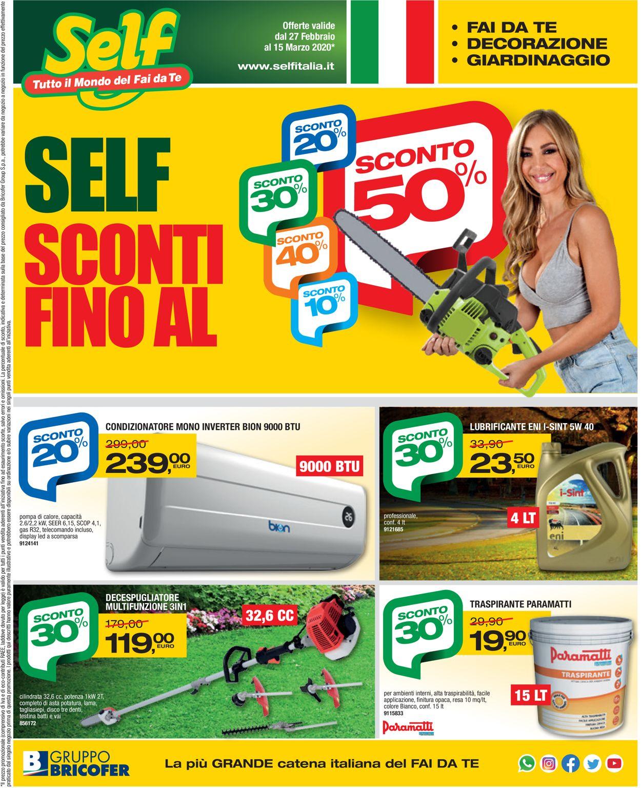 Volantino Self - Offerte 27/02-15/03/2020