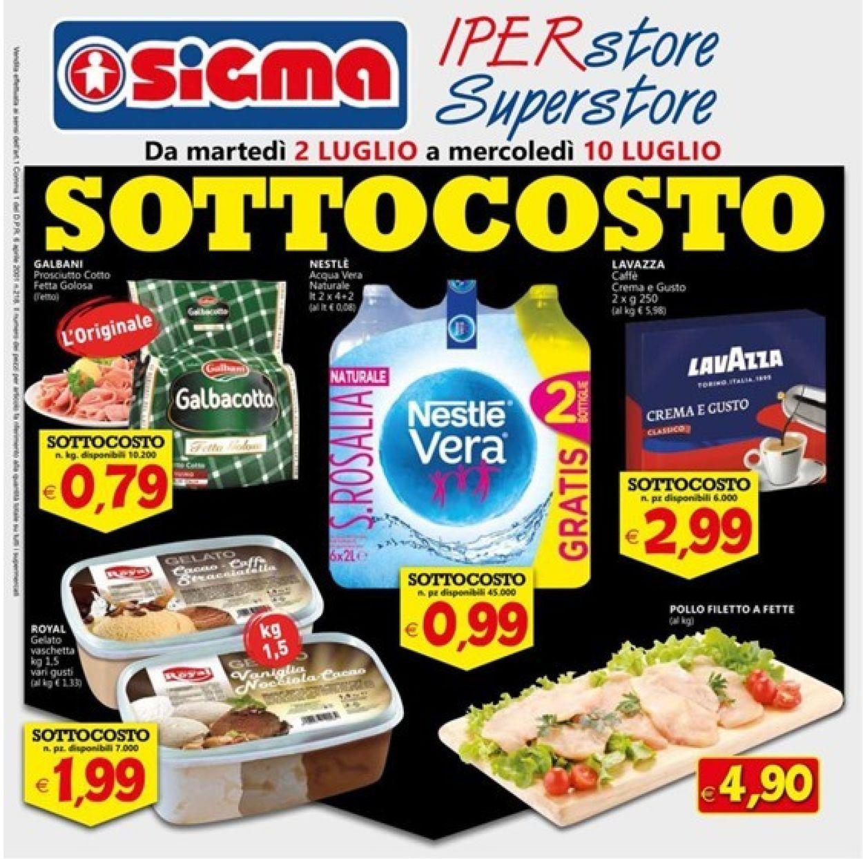 Volantino Sigma - Offerte 02/07-10/07/2019