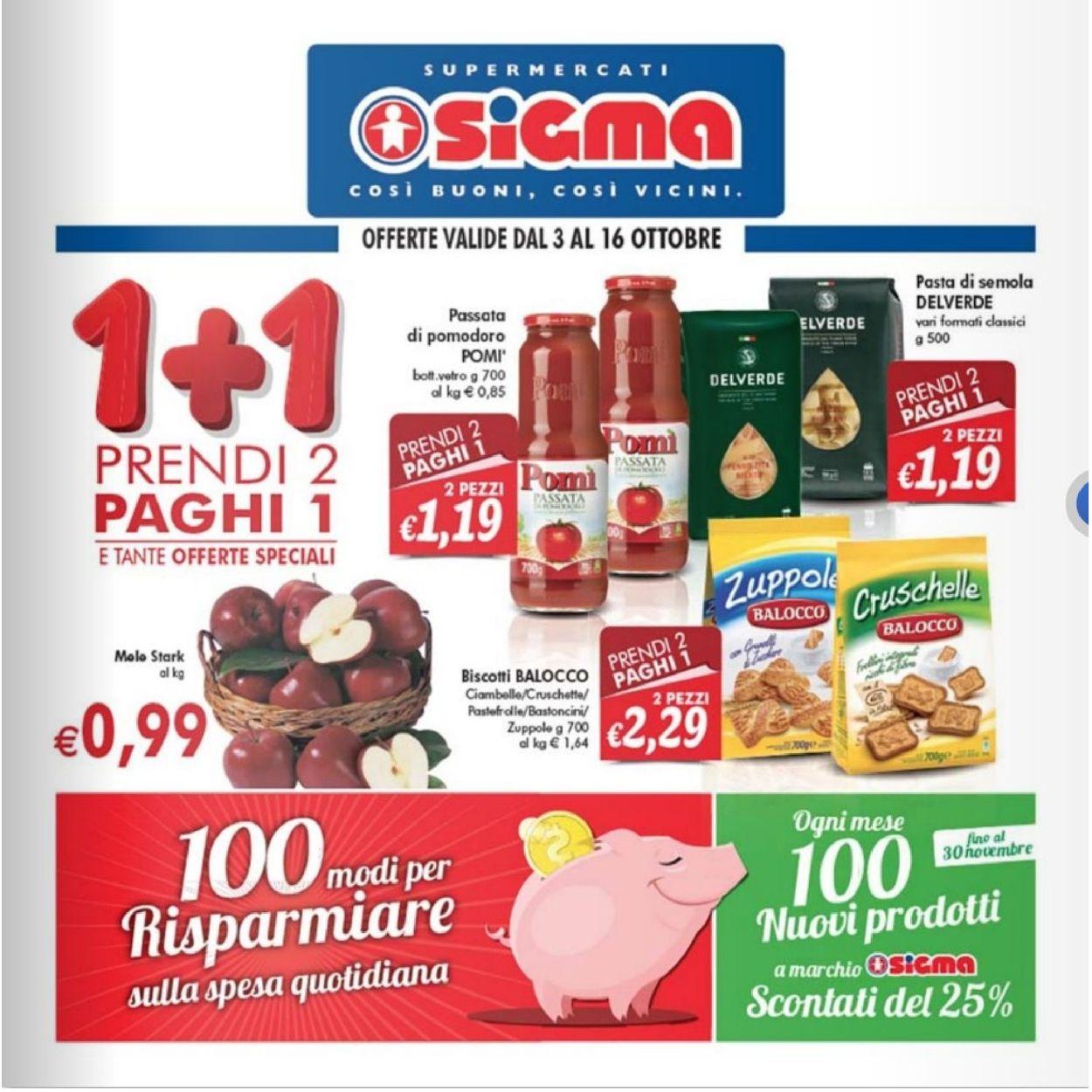 Volantino Sigma - Offerte 03/10-16/10/2019