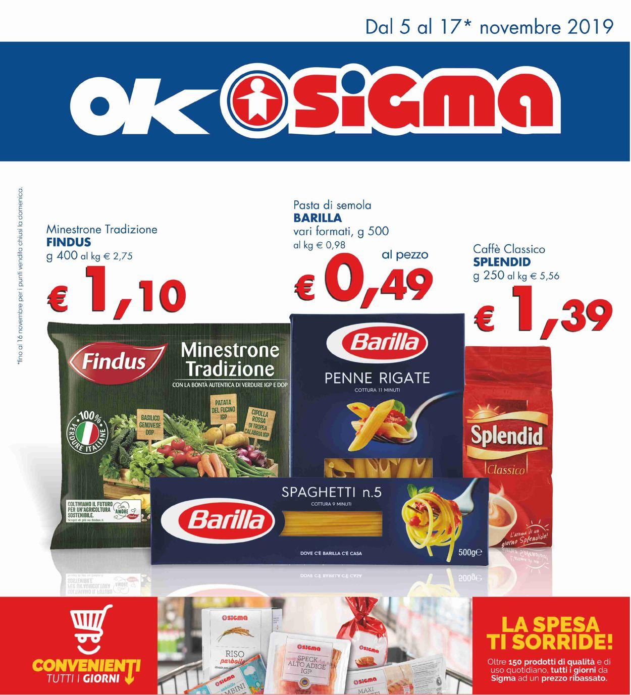 Volantino Sigma - Offerte 05/11-17/11/2019