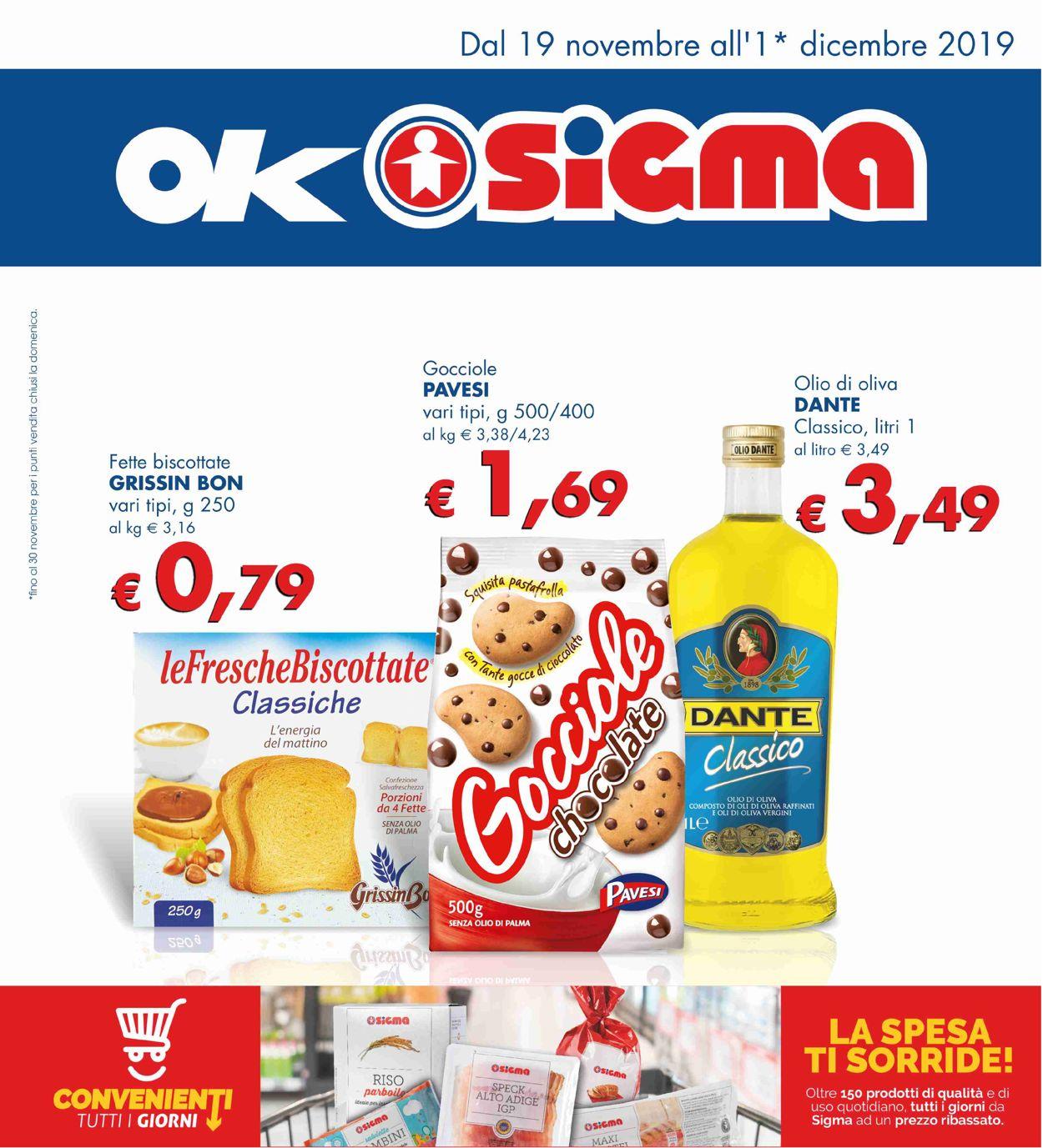 Volantino Sigma - Offerte 19/11-01/12/2019