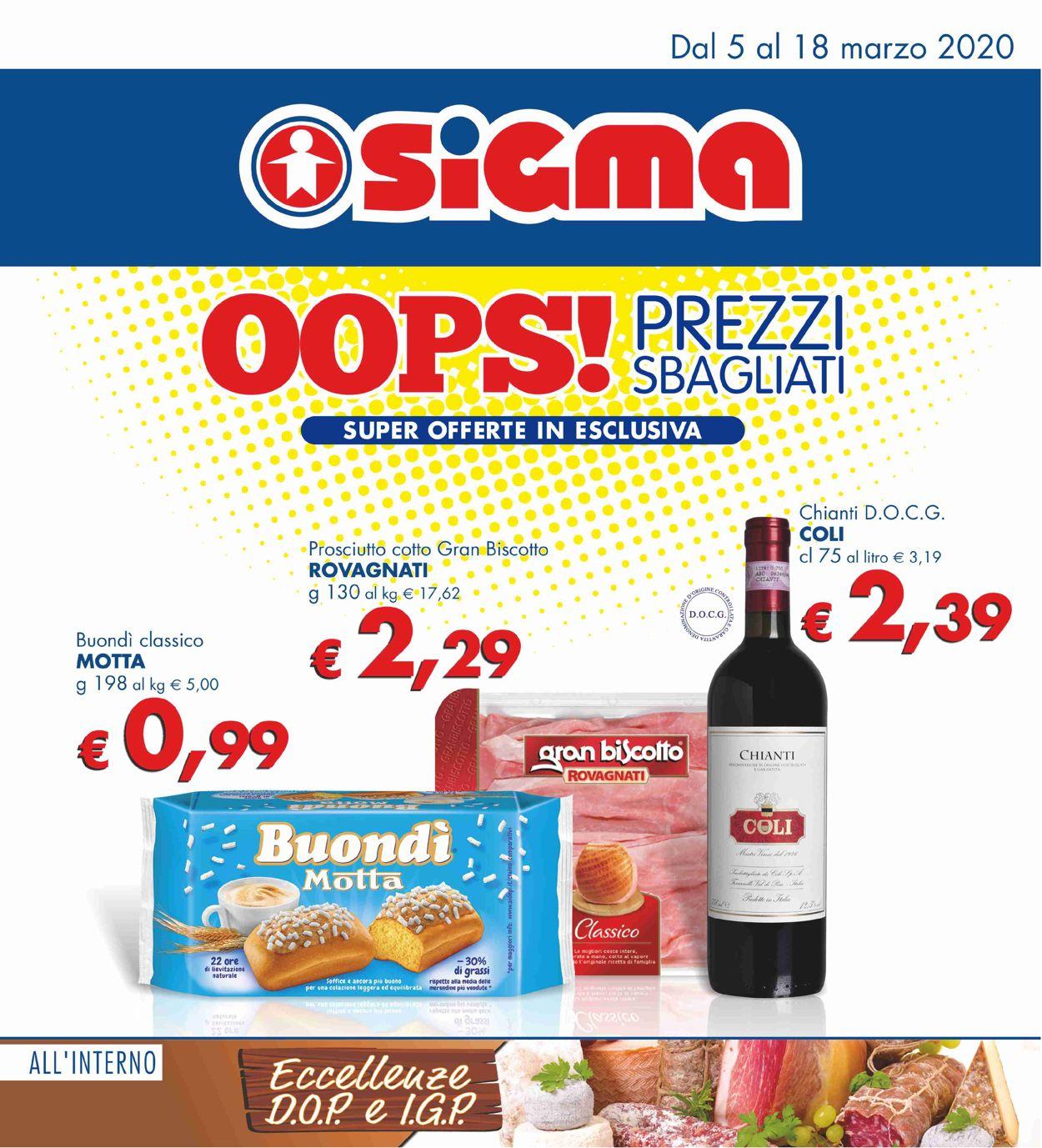 Volantino Sigma - Offerte 05/03-18/03/2020