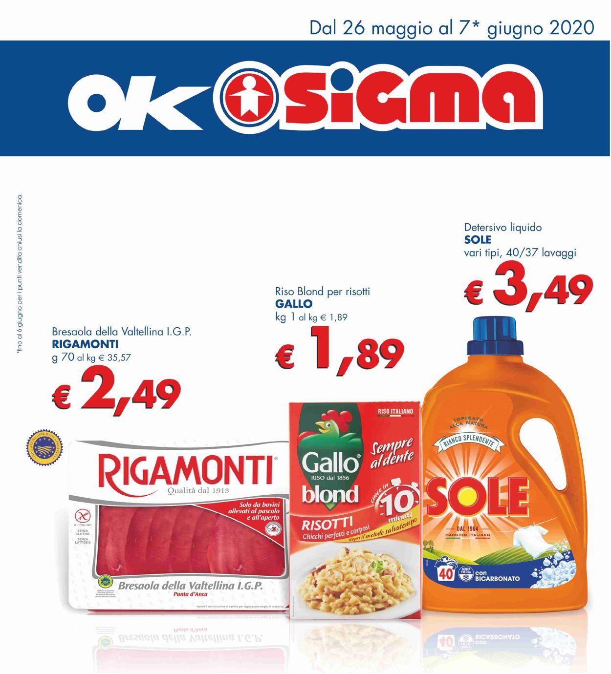 Volantino Sigma - Offerte 26/05-07/06/2020