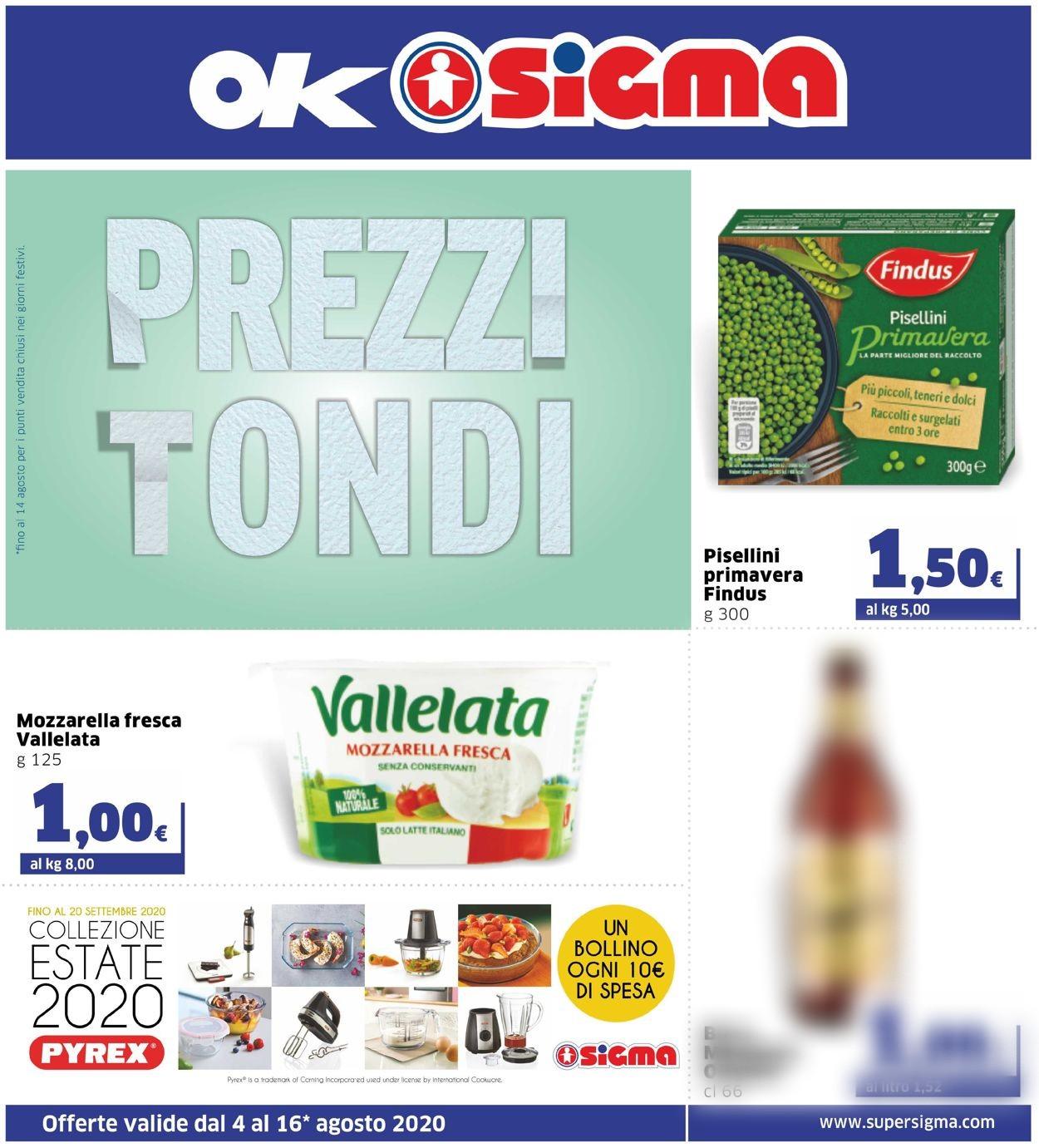 Volantino Sigma - Offerte 04/08-16/08/2020