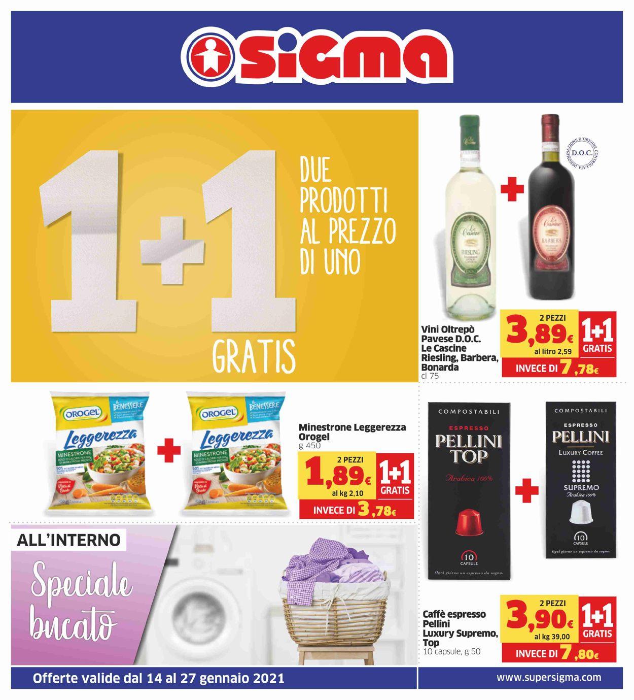Volantino Sigma - Offerte 14/01-27/01/2021