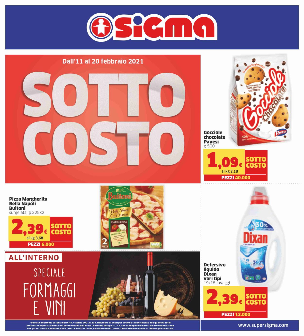 Volantino Sigma - Offerte 11/02-20/02/2021