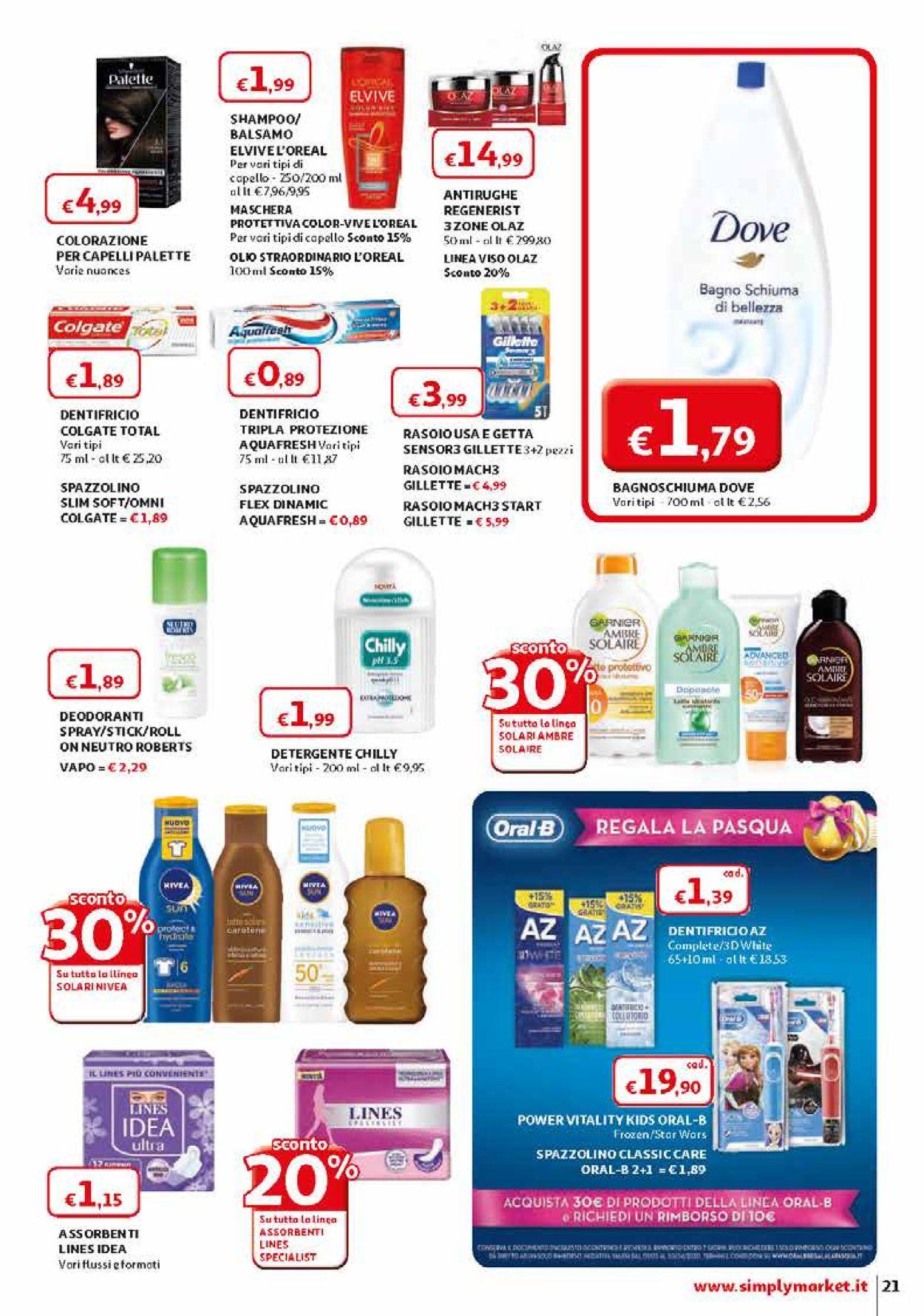 Volantino Simply Market - Offerte 28/03-11/04/2020 (Pagina 21)