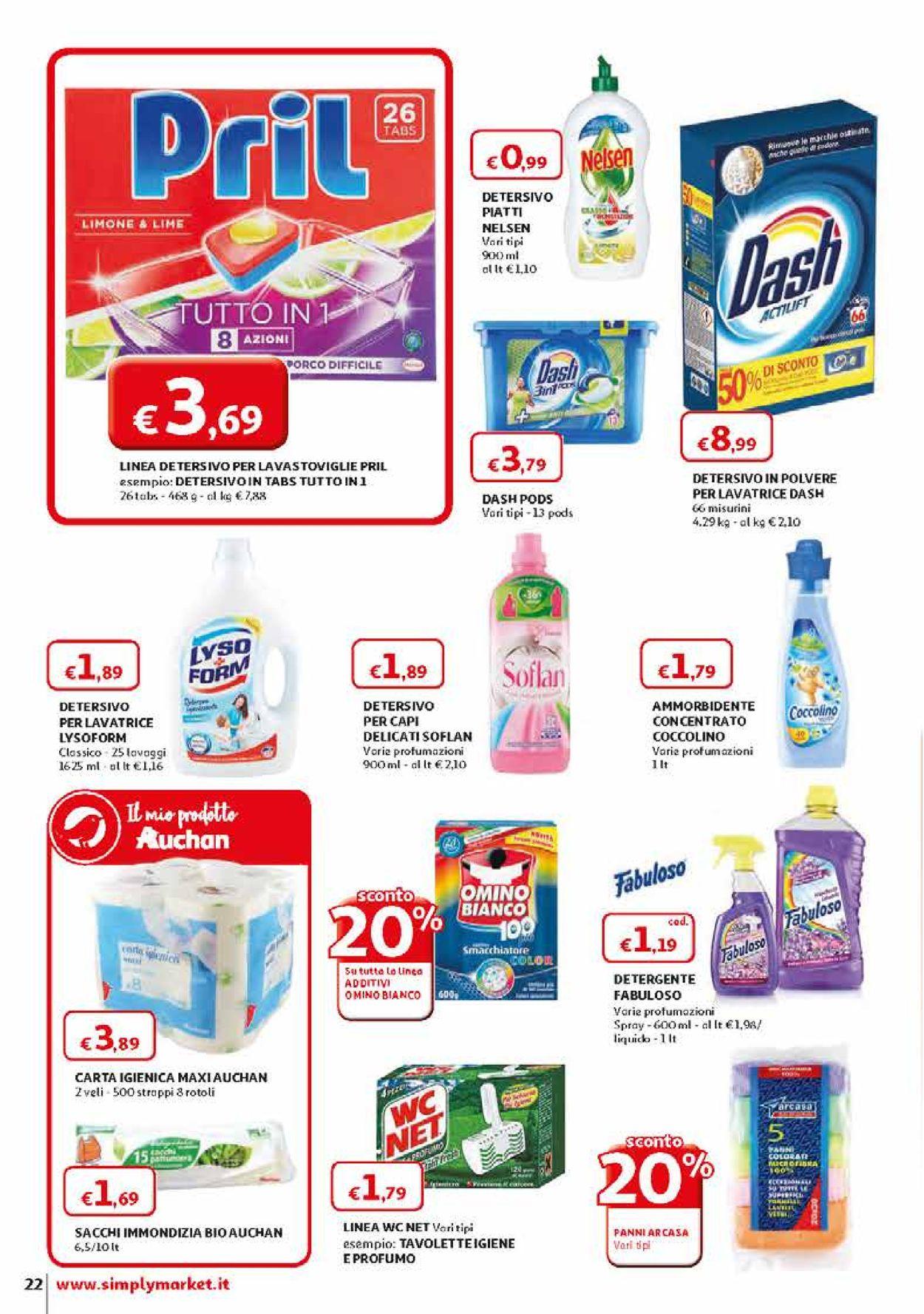 Volantino Simply Market - Offerte 28/03-11/04/2020 (Pagina 22)