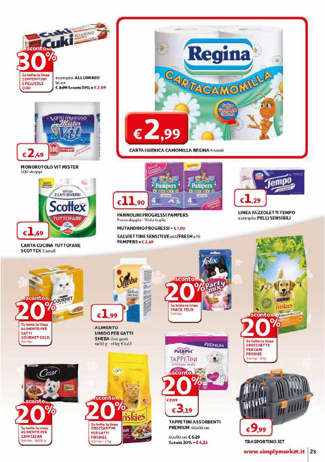 Volantino Simply Market - Offerte 28/03-11/04/2020 (Pagina 23)