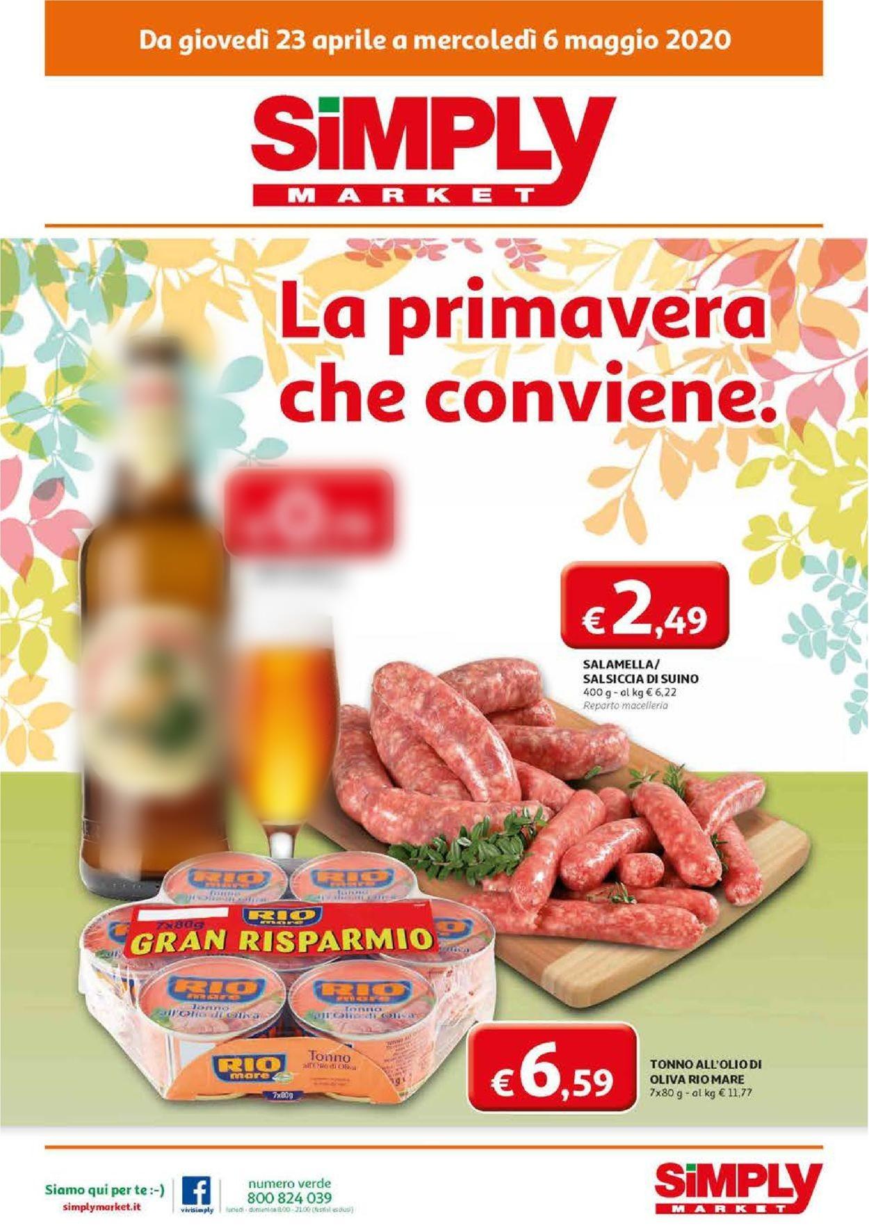 Volantino Simply Market - Offerte 21/04-06/05/2020