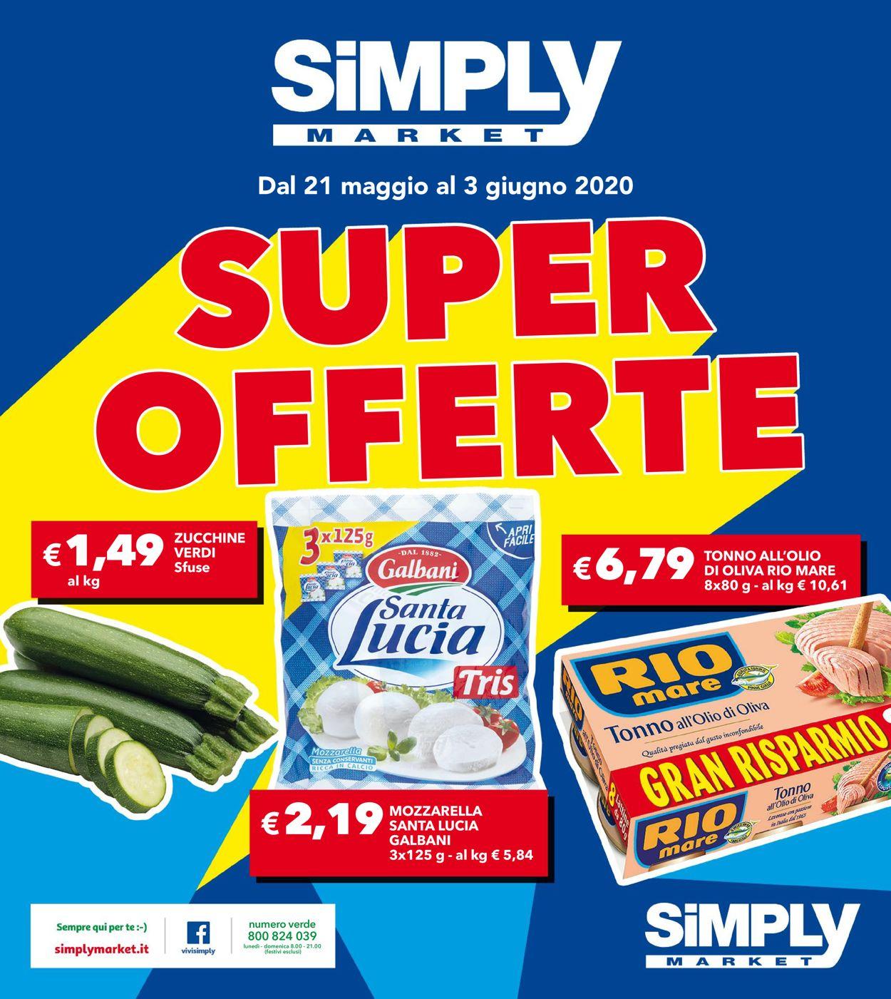 Volantino Simply Market - Offerte 19/05-03/06/2020