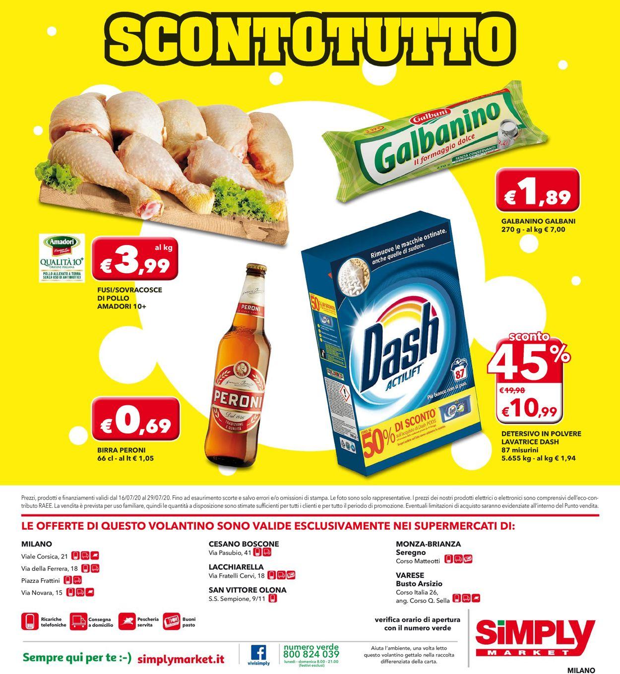 Volantino Simply Market - Offerte 16/07-29/07/2020 (Pagina 20)