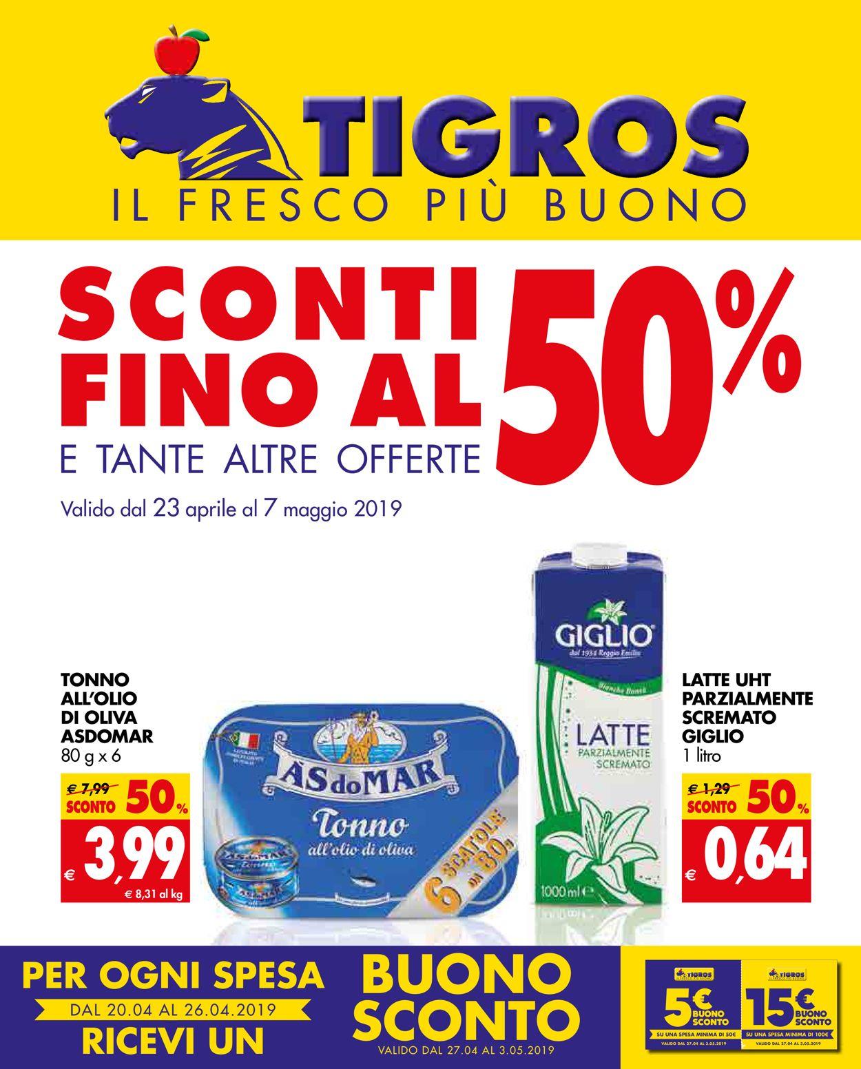 Volantino Tigros - Offerte 23/04-07/05/2019