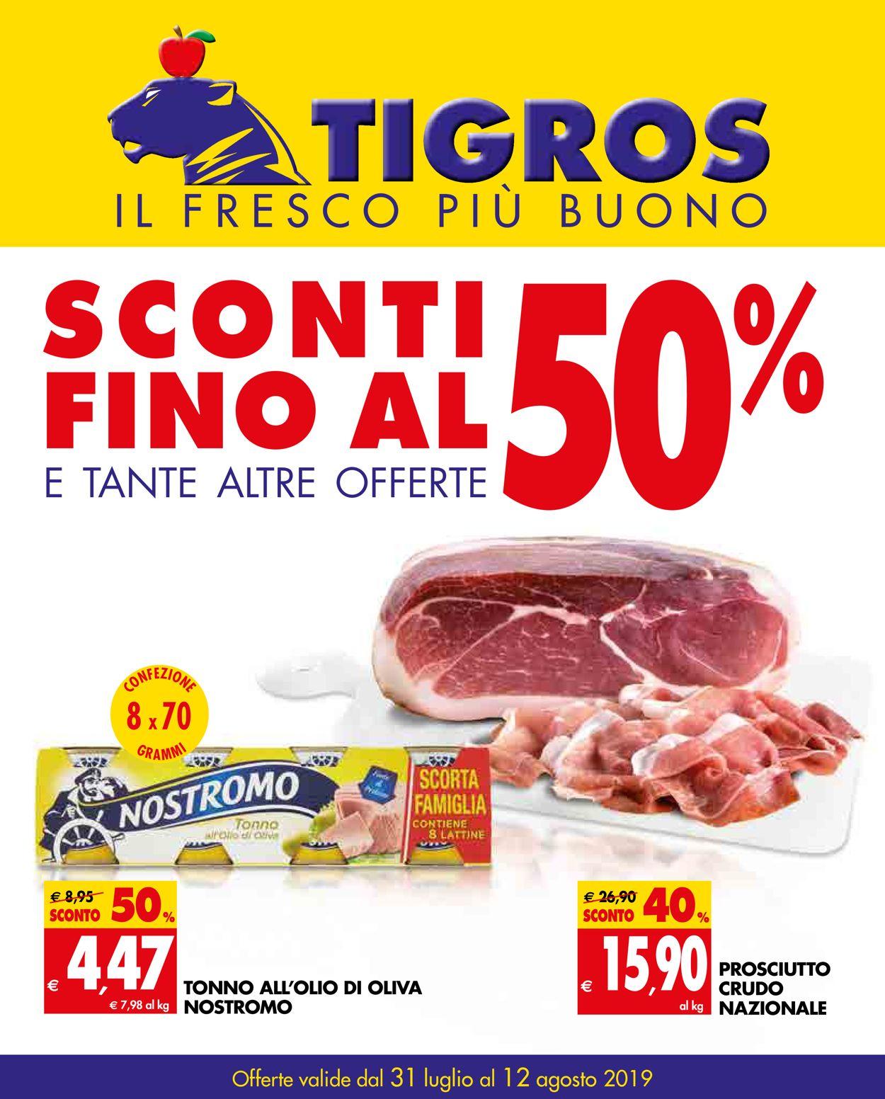 Volantino Tigros - Offerte 31/07-12/08/2019