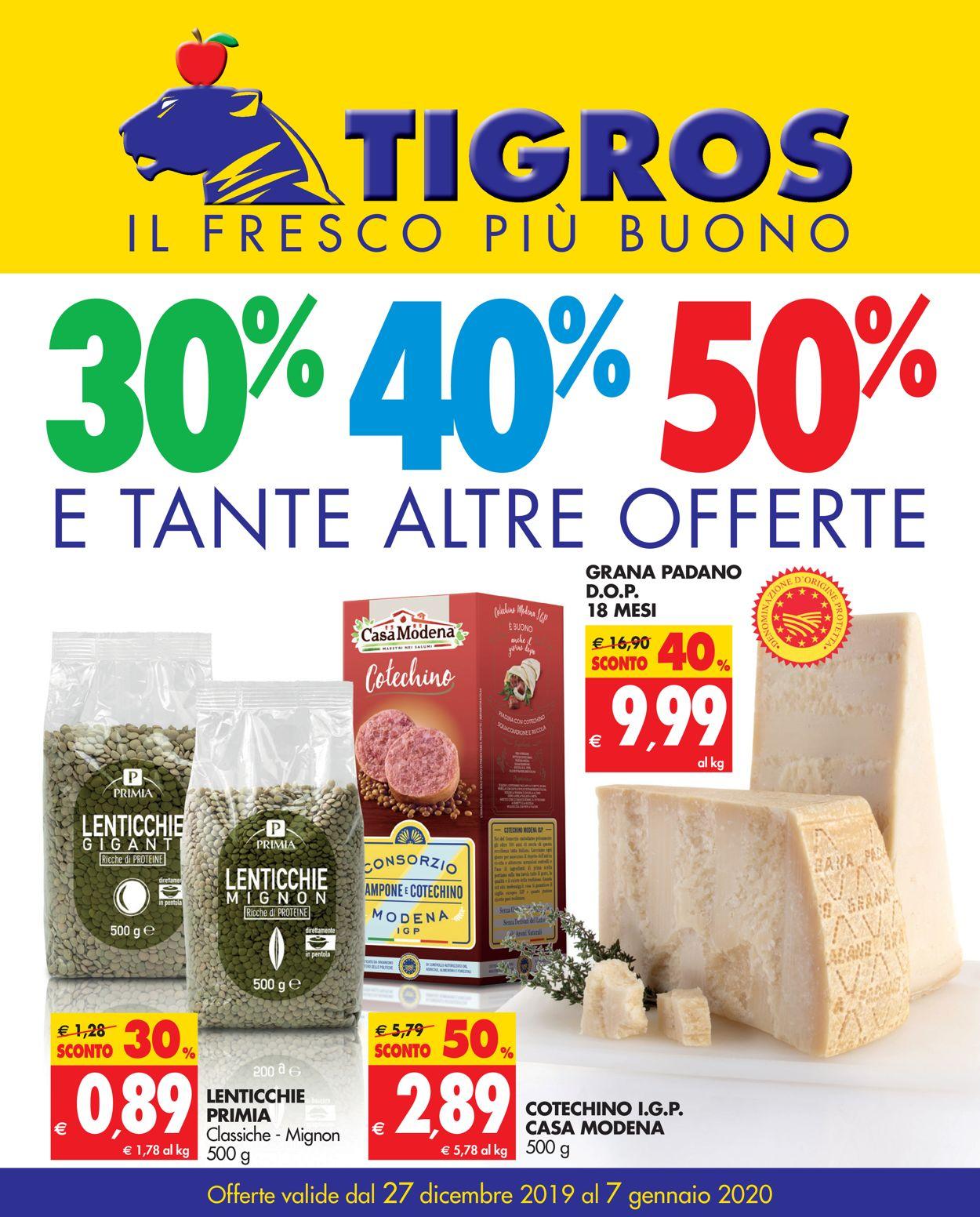 Volantino Tigros - Offerte 27/12-07/01/2020