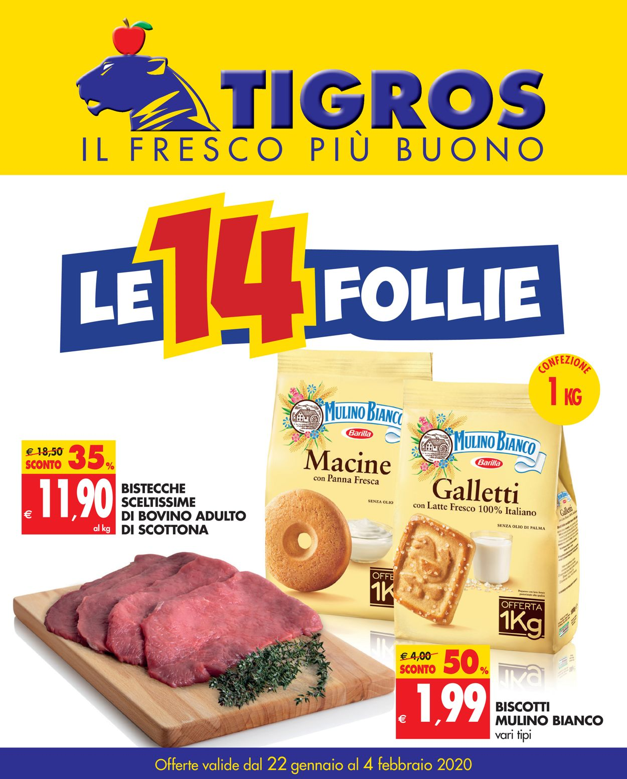 Volantino Tigros - Offerte 22/01-04/02/2020
