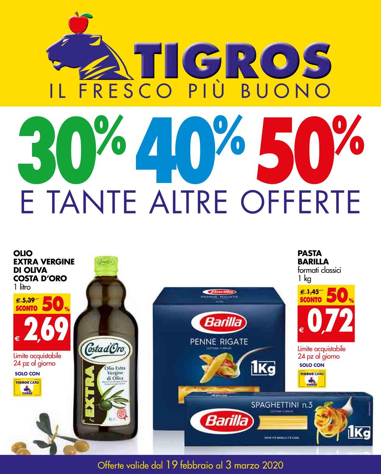 Volantino Tigros - Offerte 19/02-03/03/2020