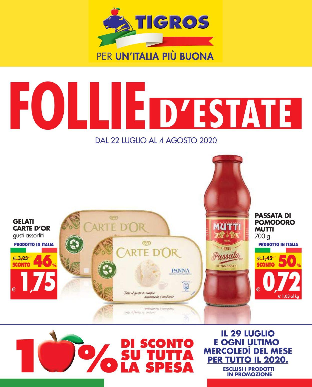 Volantino Tigros - Offerte 22/07-04/08/2020