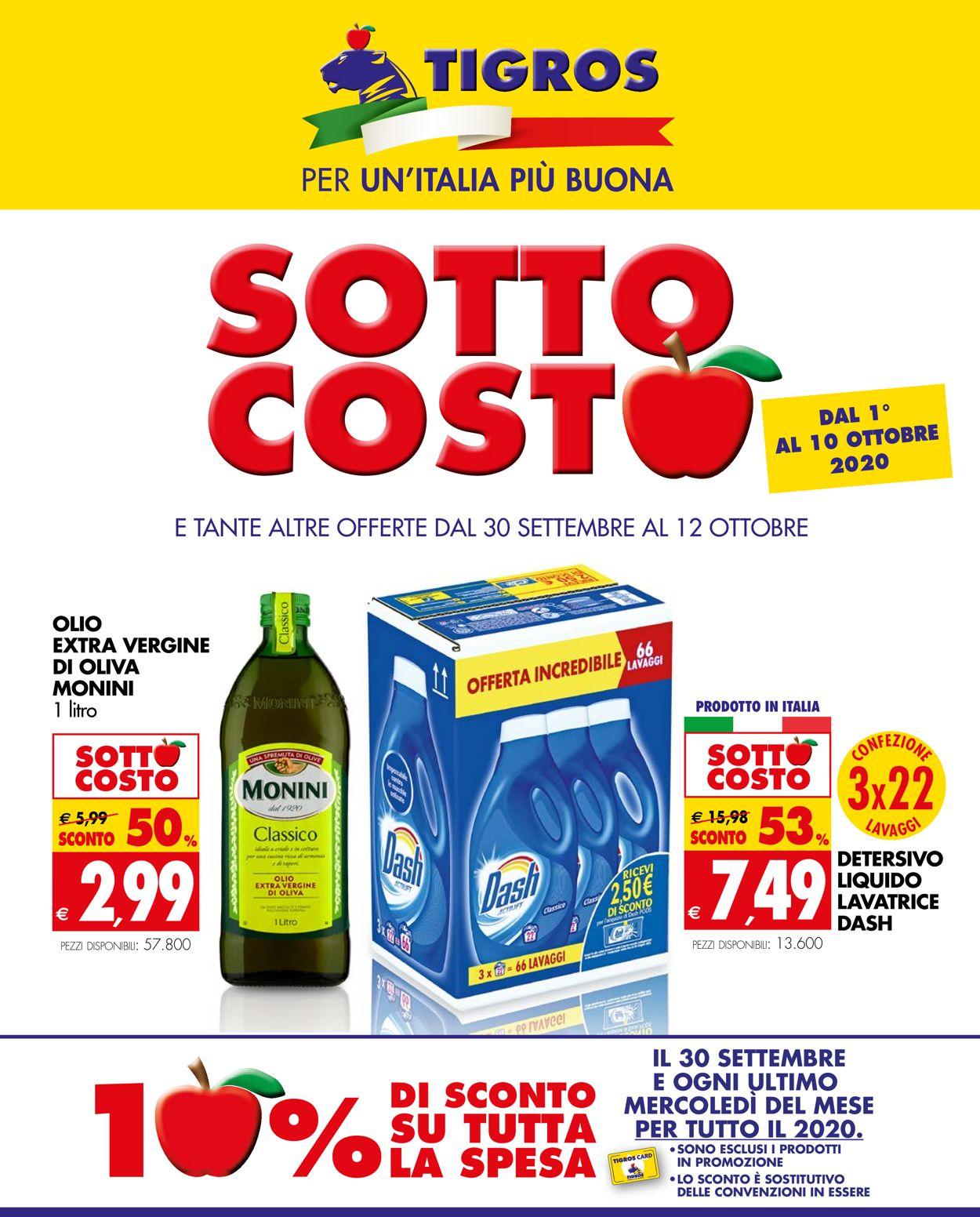Volantino Tigros - Offerte 30/09-12/10/2020