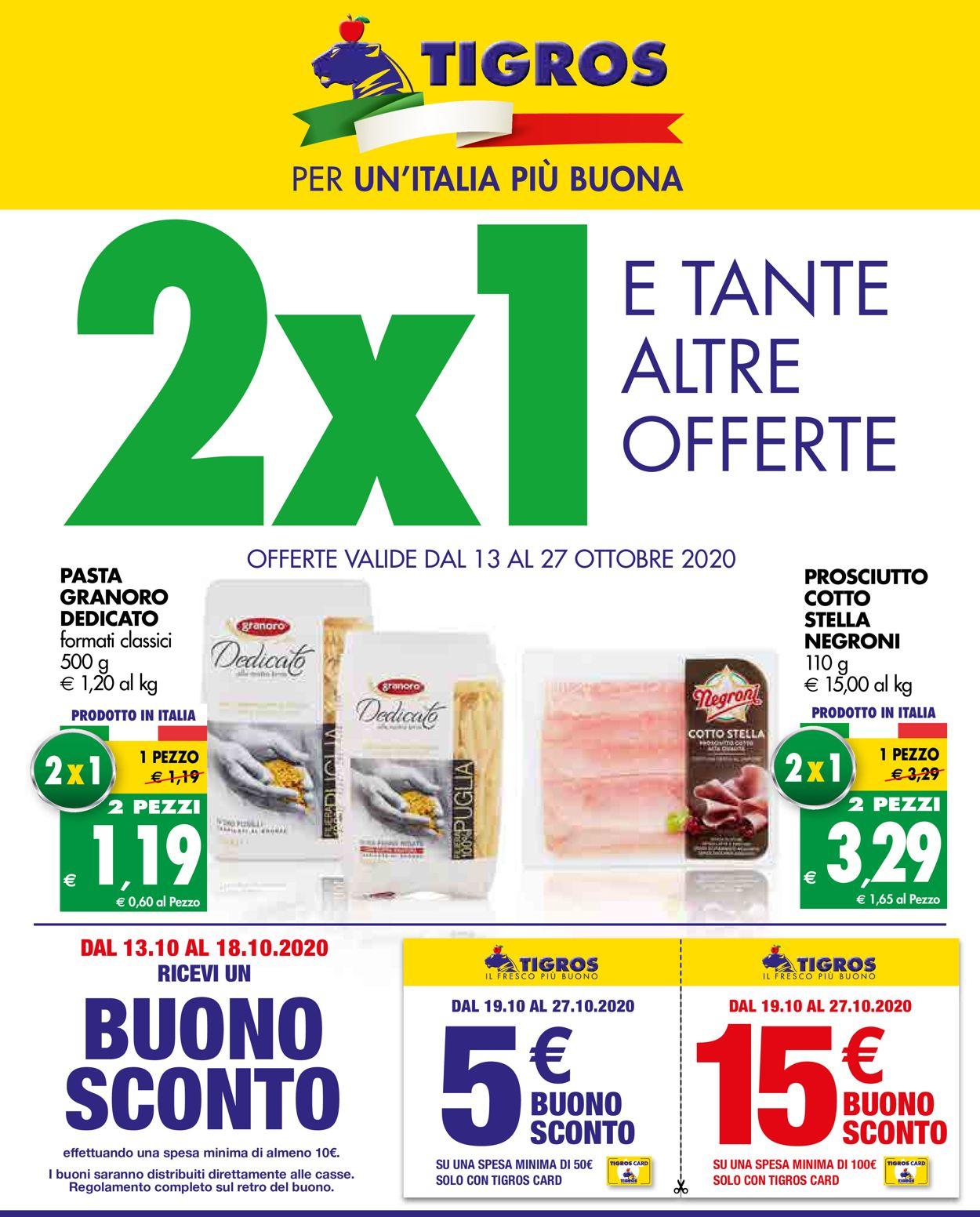 Volantino Tigros - Offerte 13/10-27/10/2020
