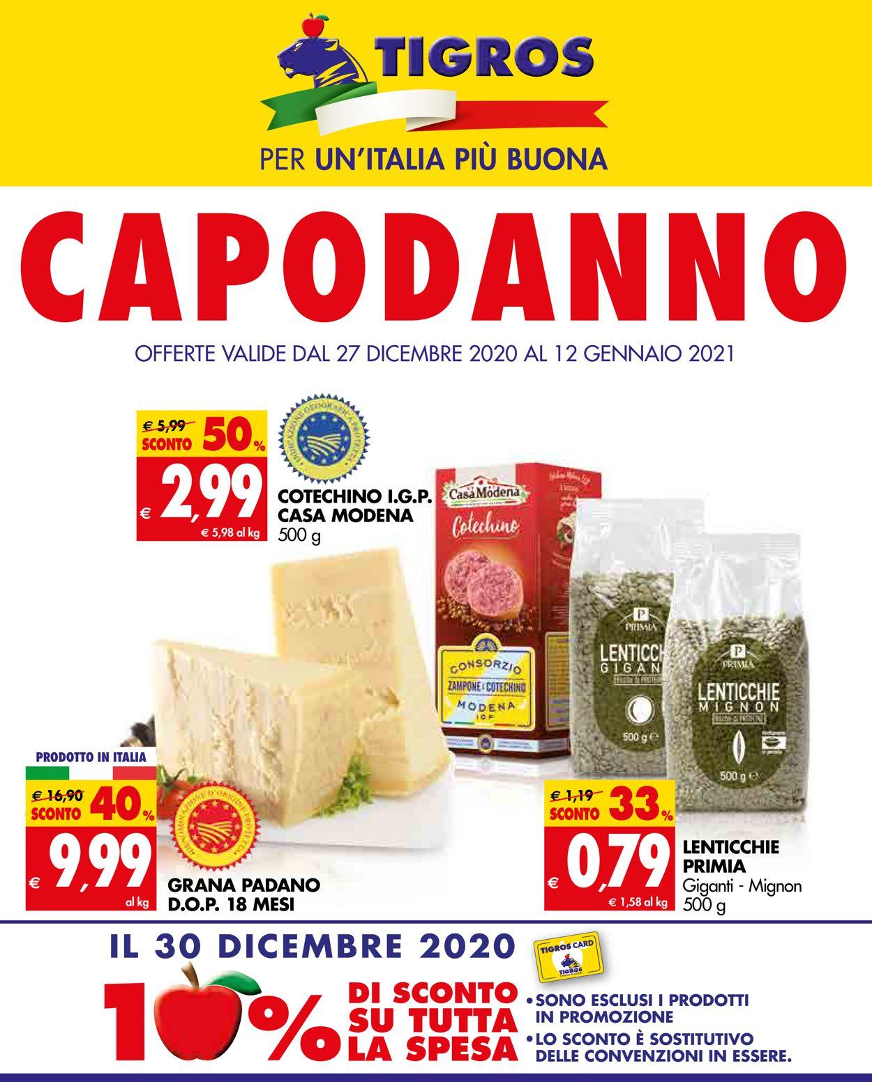 Volantino Tigros - Offerte 27/12-12/01/2021