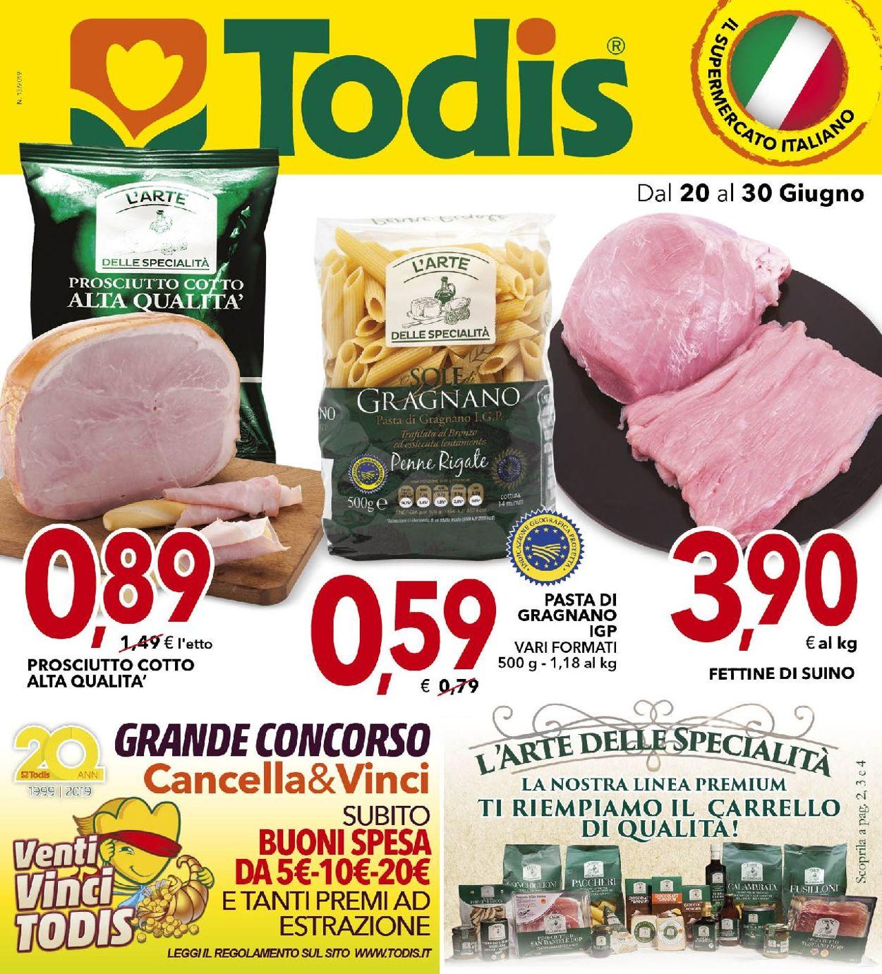 Volantino Todis - Offerte 20/06-30/06/2019