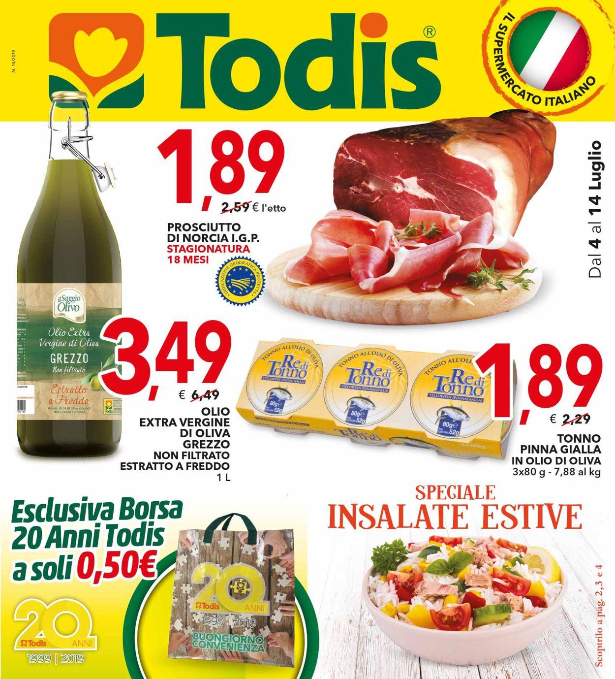 Volantino Todis - Offerte 04/07-14/07/2019