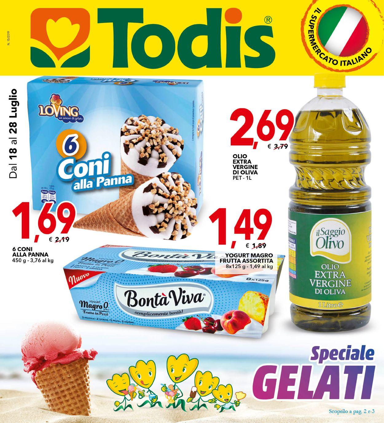 Volantino Todis - Offerte 18/07-28/07/2019