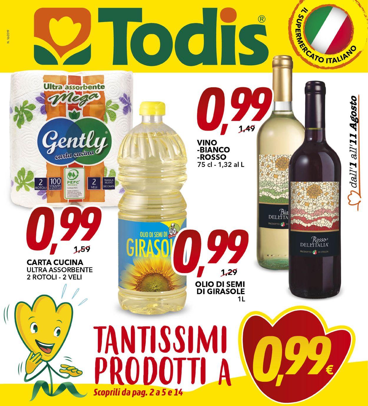 Volantino Todis - Offerte 01/08-11/08/2019