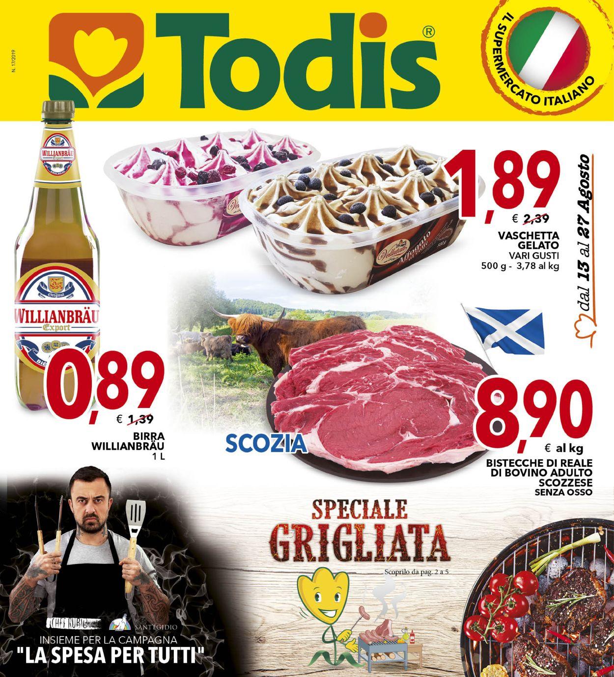 Volantino Todis - Offerte 13/08-27/08/2019