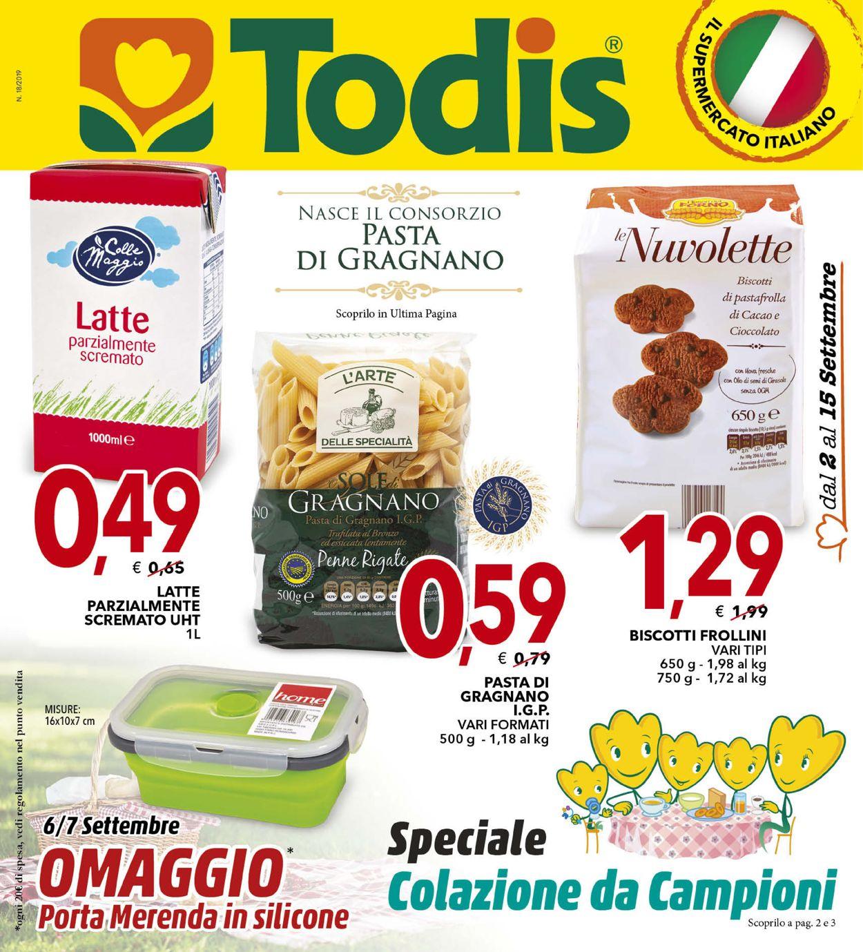 Volantino Todis - Offerte 02/09-15/09/2019