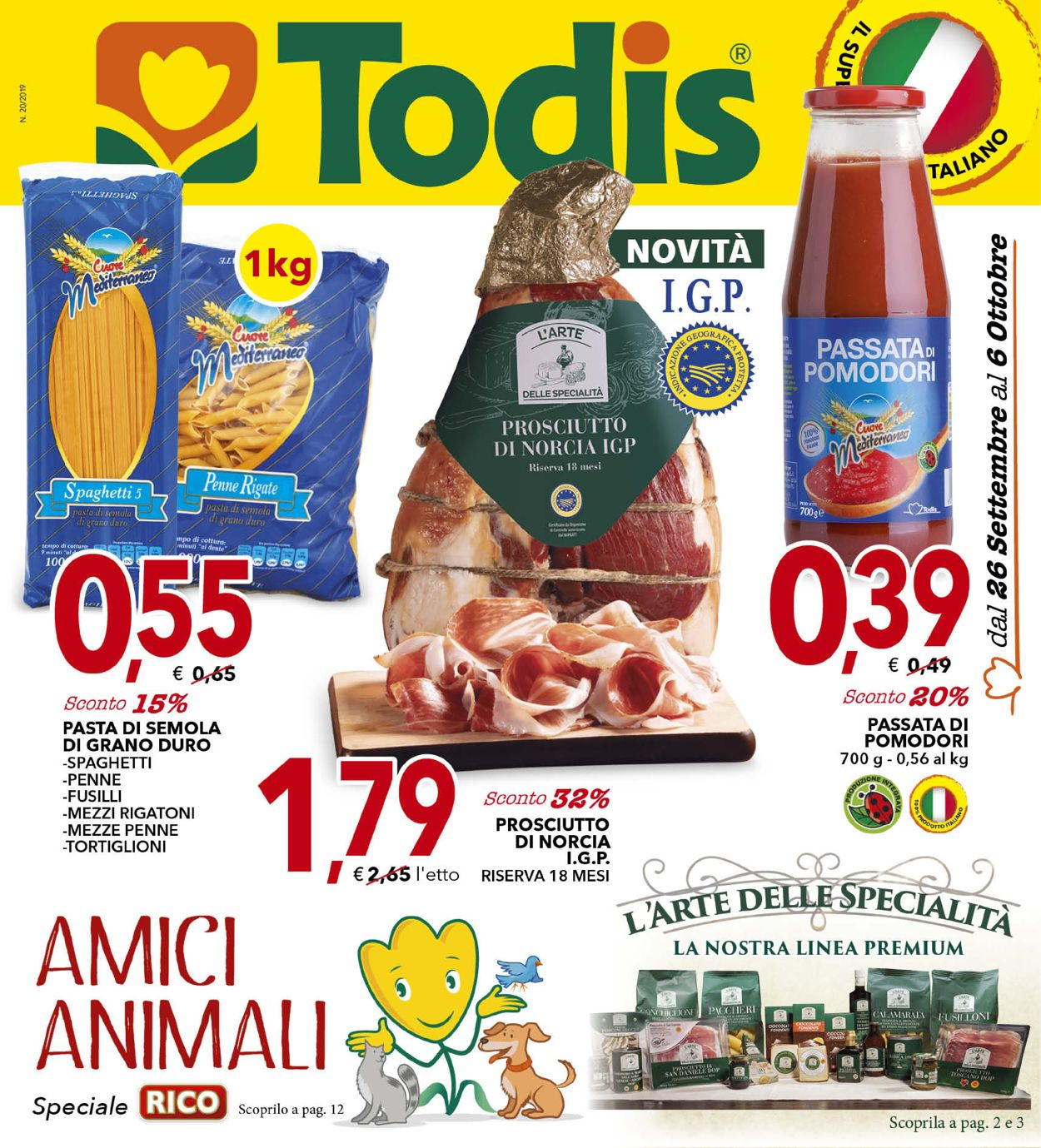 Volantino Todis - Offerte 26/09-06/10/2019