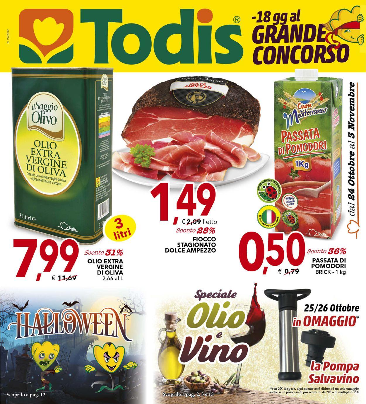 Volantino Todis - Offerte 24/10-03/11/2019