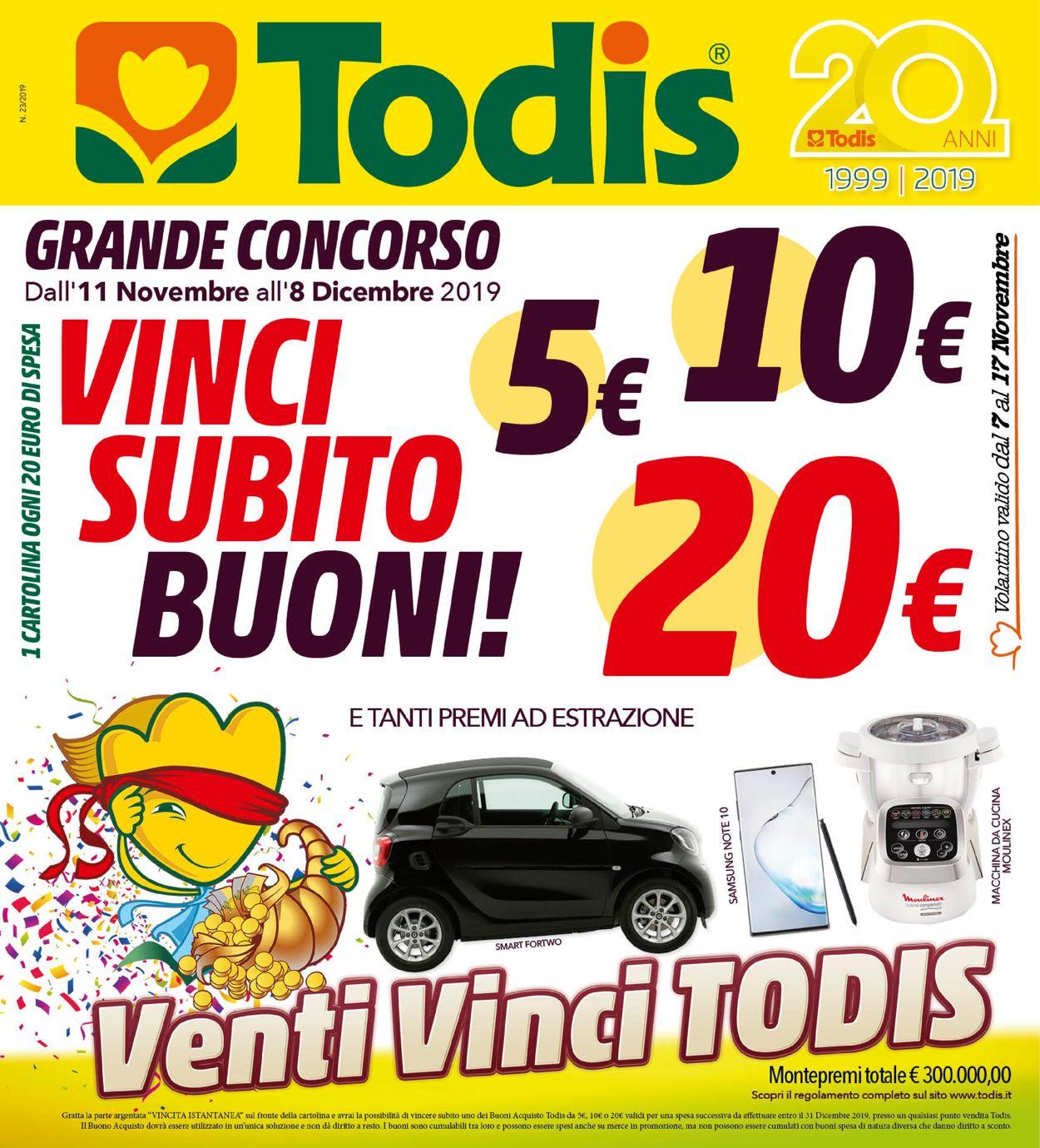 Volantino Todis - Offerte 11/11-08/12/2019