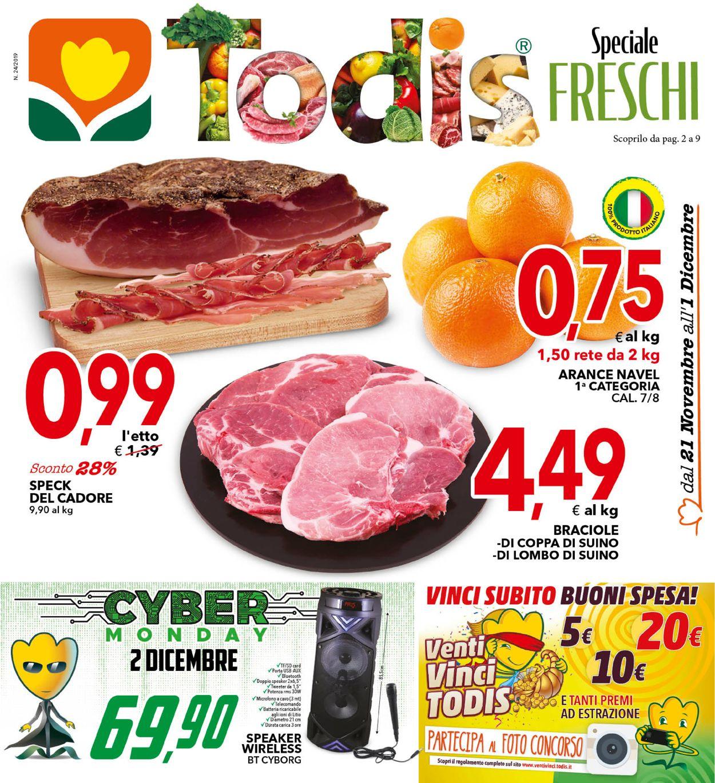 Volantino Todis - Offerte 21/11-01/12/2019
