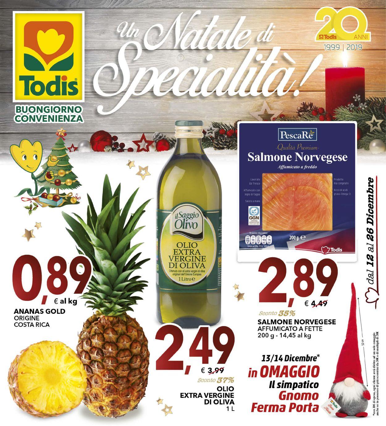Volantino Il volantino natalizio di Todis - Offerte 12/12-26/12/2019