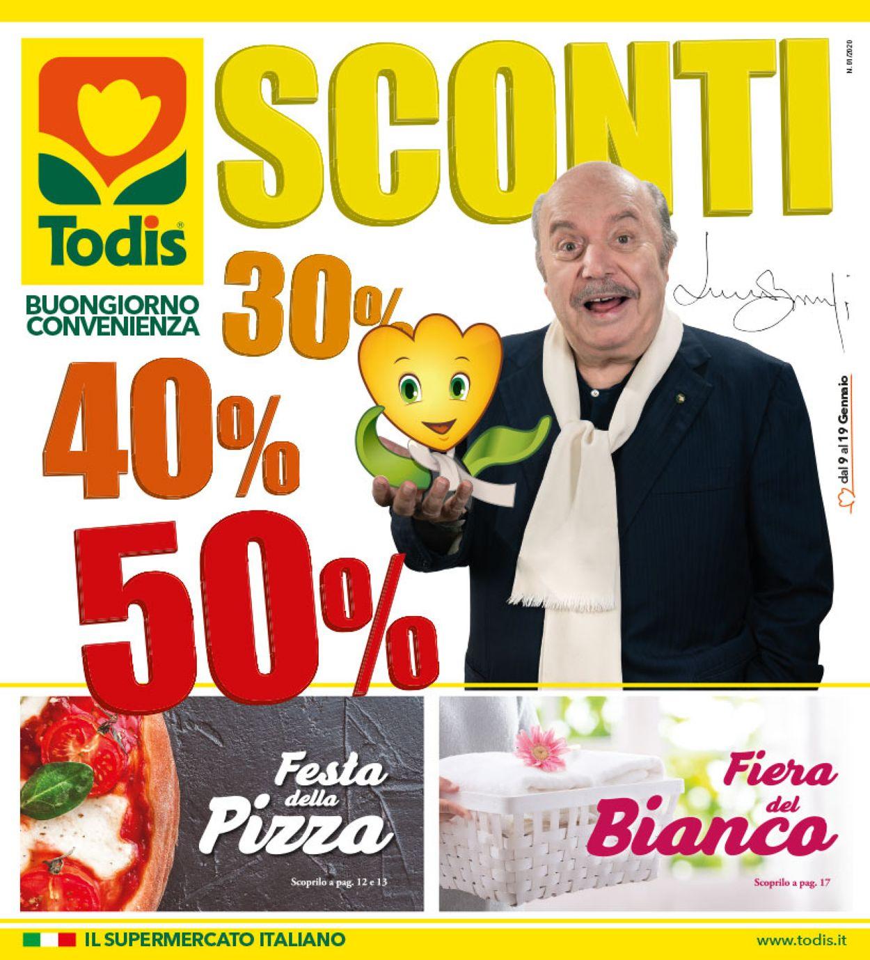 Volantino Todis - Offerte 09/01-19/01/2020