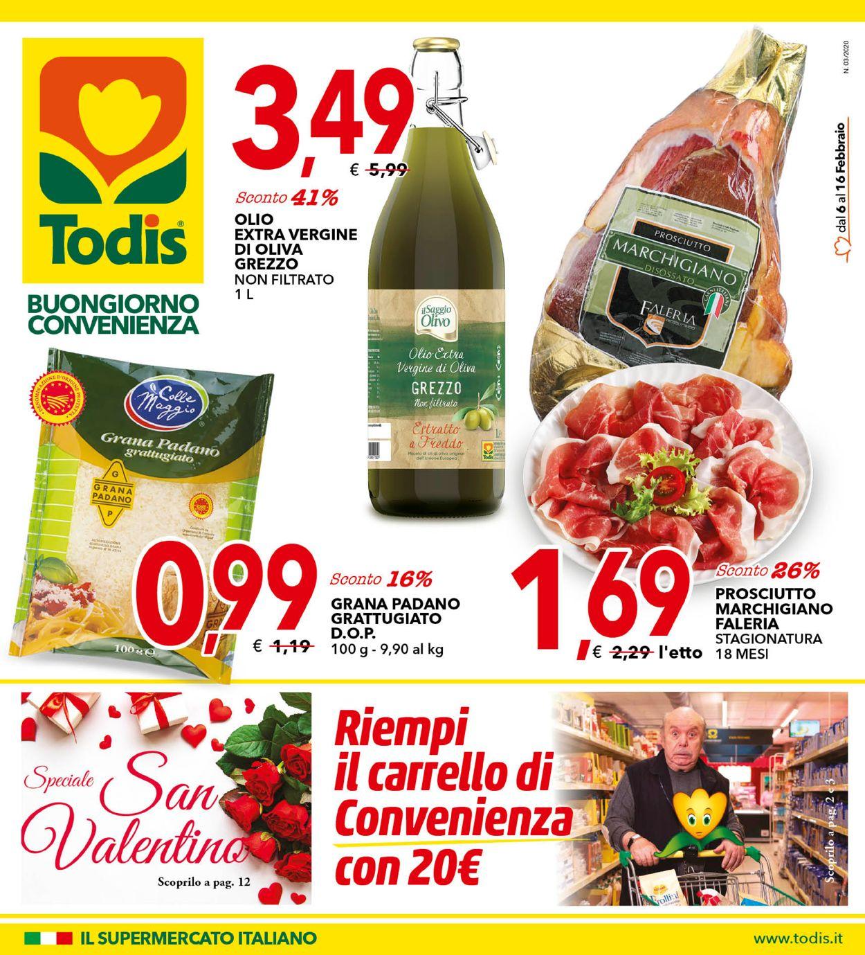Volantino Todis - Offerte 06/02-16/02/2020