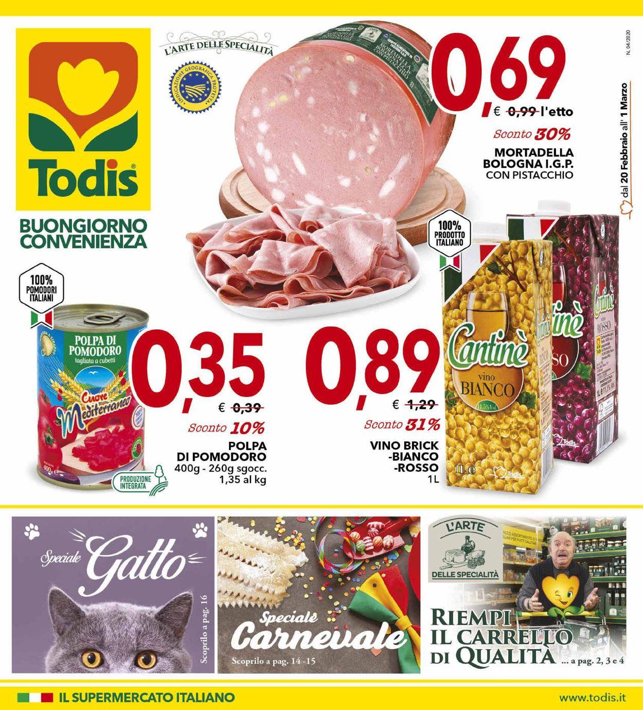 Volantino Todis - Offerte 20/02-01/03/2020