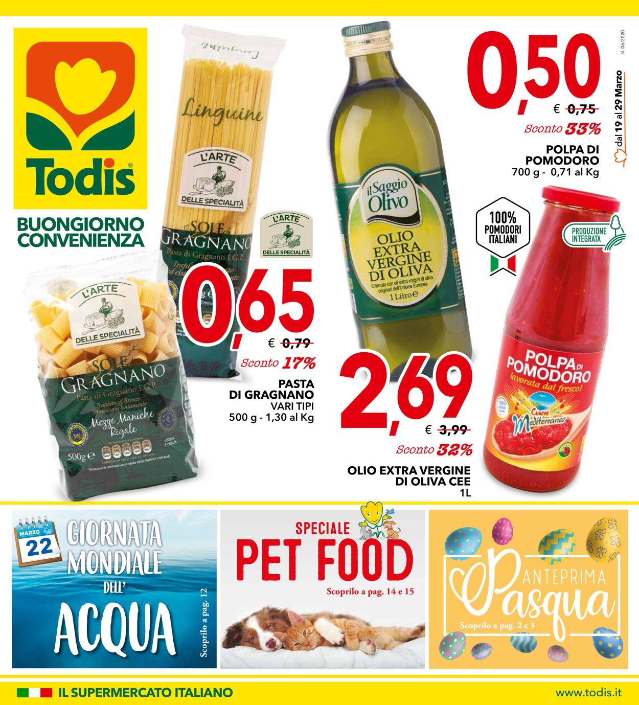 Volantino Todis - Offerte 19/03-29/03/2020