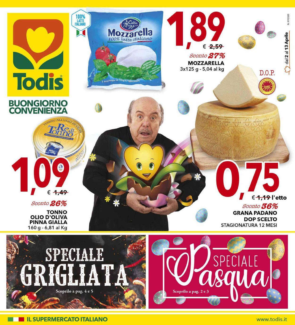 Volantino Todis - Offerte 02/04-13/04/2020