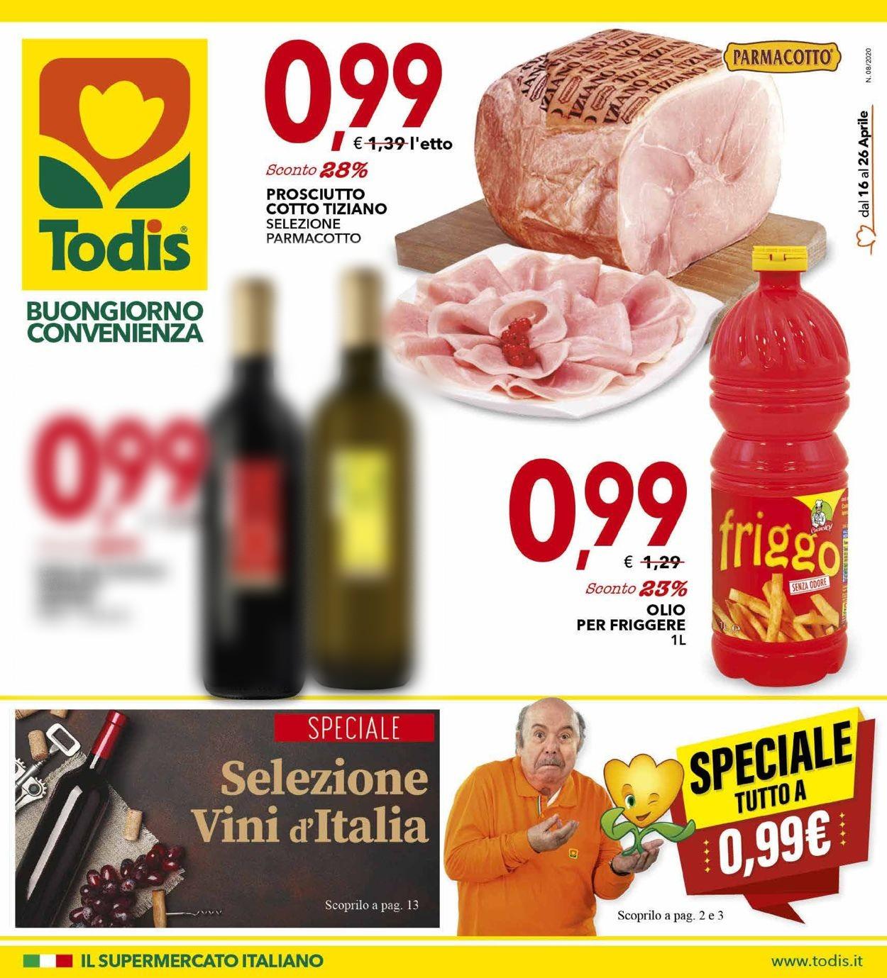 Volantino Todis - Offerte 16/04-26/04/2020
