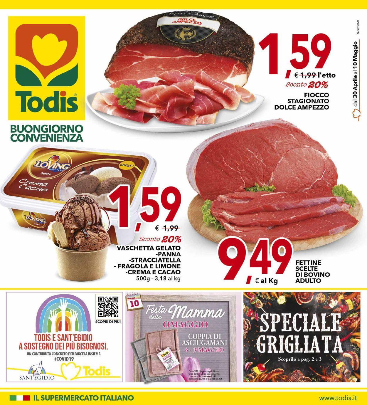 Volantino Todis - Offerte 30/04-10/05/2020
