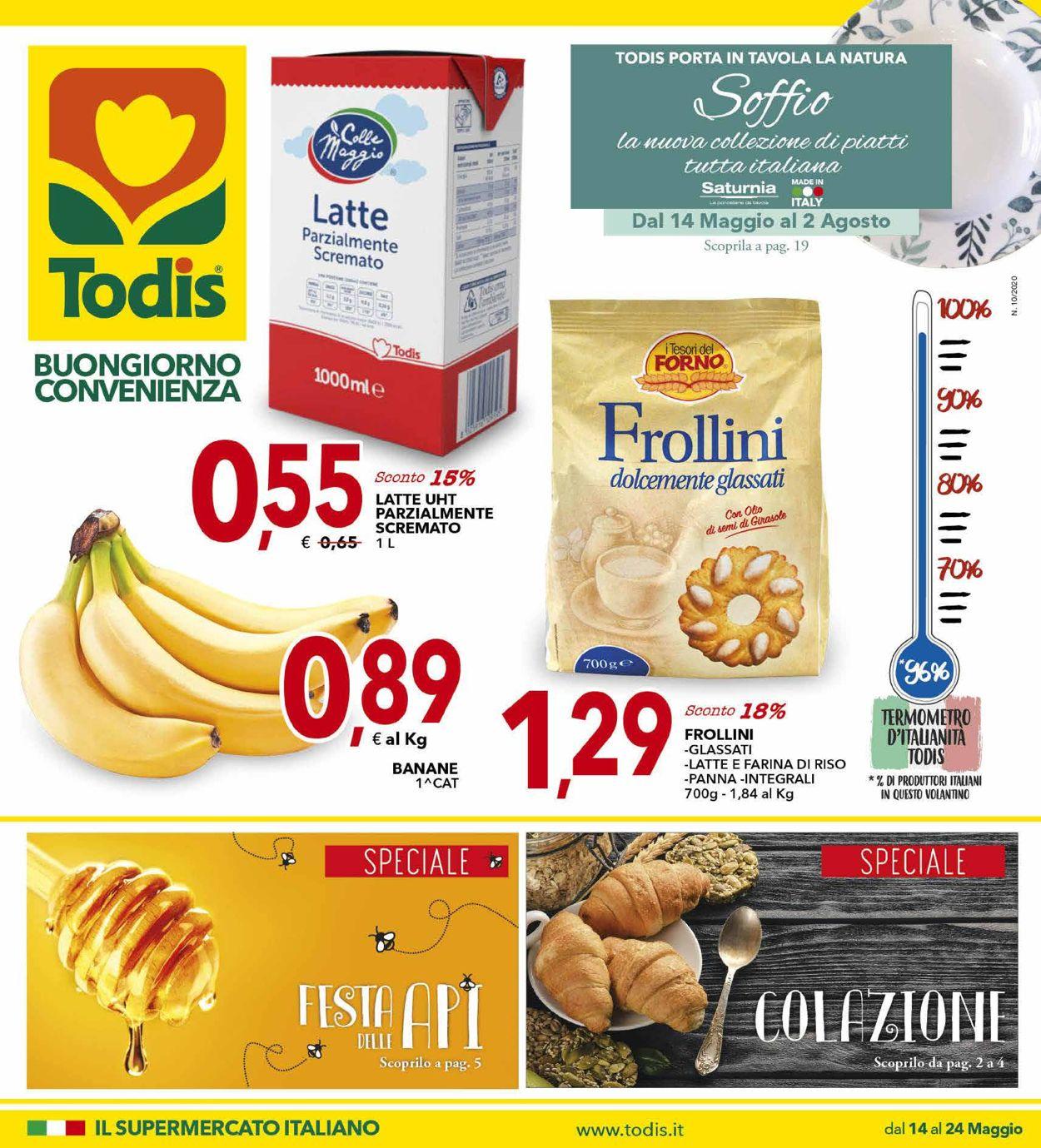 Volantino Todis - Offerte 14/05-24/05/2020