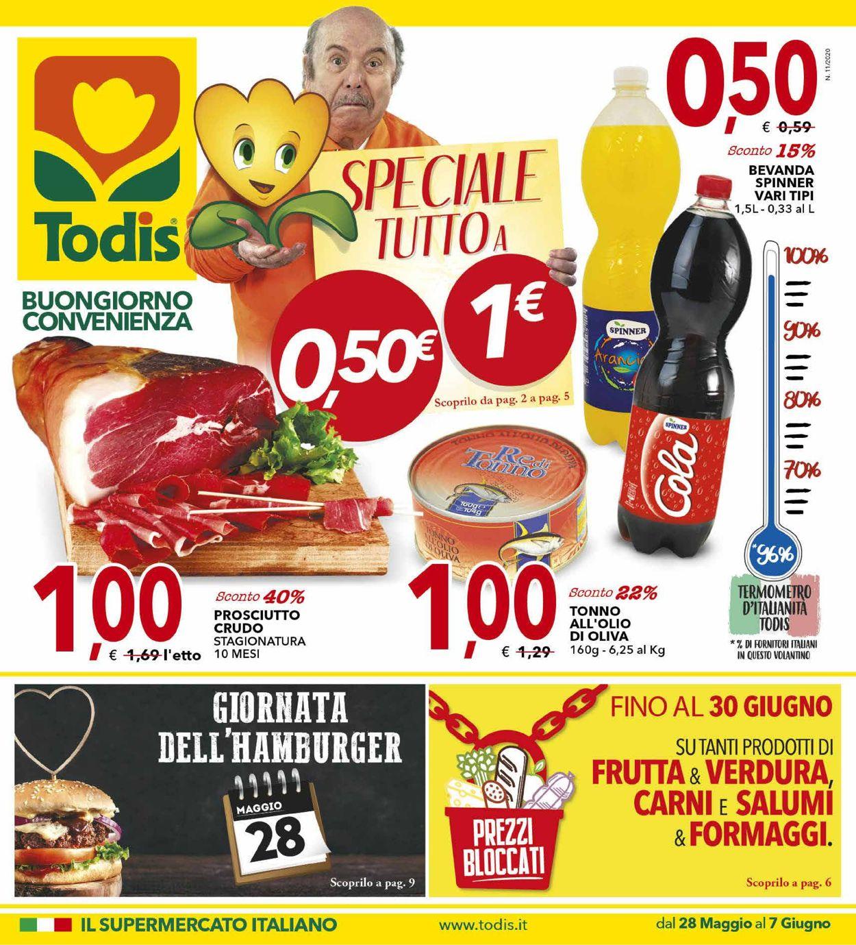 Volantino Todis - Offerte 28/05-07/06/2020